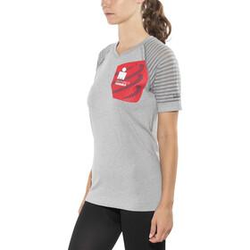 Compressport Ironman 2017 Running Shirt Women cool grey